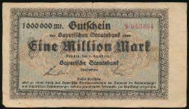 Мюнхен., 1000000 марок (1923 г.)