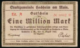 Хоххайм-ам-Майн., 1000000 марок (1923 г.)