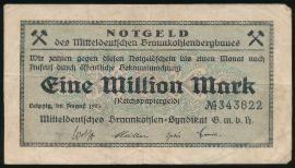 Лейпциг., 1000000 марок (1923 г.)