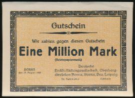 Борна., 1000000 марок (1923 г.)
