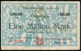 Лёррах., 1000000 марок (1923 г.)
