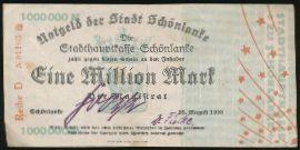 Тшцянка., 1000000 марок (1923 г.)