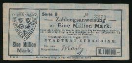 Штраубинг., 1000000 марок (1923 г.)