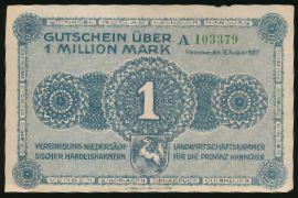 Ганновер., 1000000 марок (1923 г.)