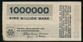 Веймар., 1000000 марок (1923 г.)