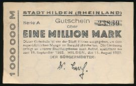 Хильден., 1000000 марок (1923 г.)