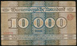 Баден-Вюртемберг., 10000 марок (1923 г.)
