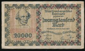 Баден-Вюртемберг., 20000 марок (1923 г.)