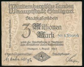 Штутгарт., 3000000 марок (1923 г.)