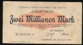 Франкфурт-на-Майне., 2000000 марок (1923 г.)
