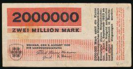 Веймар., 2000000 марок (1923 г.)