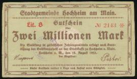 Буххайм., 2000000 марок (1923 г.)