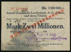 Дессау., 2000000 марок (1923 г.)