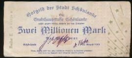 Тшцянка., 2000000 марок (1923 г.)