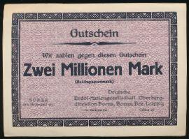 Борна., 2000000 марок (1923 г.)