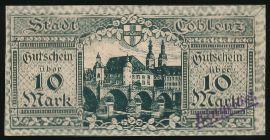 Кобленц., 10 марок (1918 г.)