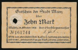 Майнц., 10 марок (1918 г.)