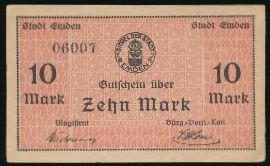 Эмден., 10 марок (1919 г.)