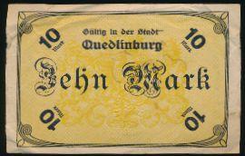 Кведлинбург., 10 марок (1918 г.)