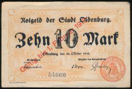 Ольденбург., 10 марок (1918 г.)