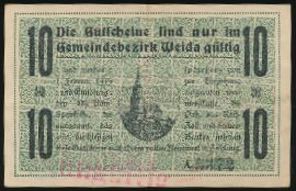 Вайда., 10 марок (1918 г.)
