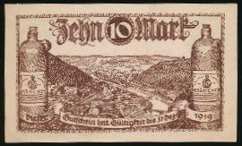 Бад-Эмс., 10 марок (1919 г.)