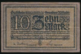 Дрезден., 10 марок (1918 г.)
