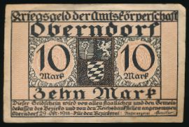 Оберндорф-ам-Неккар., 10 марок (1918 г.)
