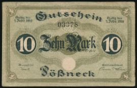 Пёснек., 10 марок (1919 г.)