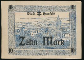 Бад-Херсфельд., 10 марок (1918 г.)