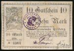 Триберг-им-Шварцвальд., 10 марок (1918 г.)