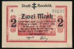 Бад-Херсфельд., 2 марки (1919 г.)