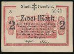 Херсфельд., 2 марки (1919 г.)