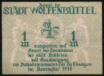 Вольфенбюттель., 1 марка (1918 г.)