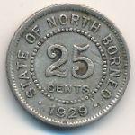Северное Борнео, 25 центов (1929 г.)