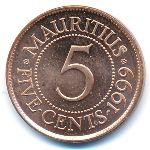 Маврикий, 5 центов (1987–2012 г.)