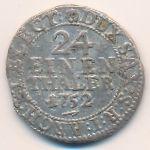 Саксония-Альбертина, 1/24 талера (1752 г.)