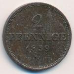 Саксония, 2 пфеннига (1859 г.)