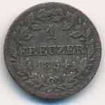 Бавария, 1 крейцер (1854 г.)