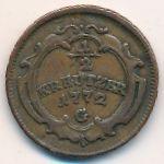 Бургау, 1/2 крейцера (1772 г.)