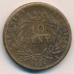 Французские колонии, 10 сентим (1828 г.)