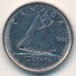 Канада, 10 центов (1989 г.)