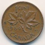 Канада, 1 цент (1953–1964 г.)