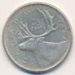 Канада, 25 центов (1964 г.)