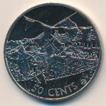 Острова Кука, 50 центов (2002 г.)