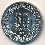 Экваториальная Гвинея, 50 франков (1986 г.)