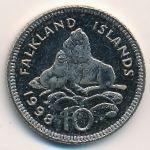 Фолклендские острова, 10 пенсов (1998 г.)