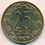 Центральная Африка, 25 франков (1996 г.)