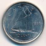Канада, 10 центов (1991–1999 г.)