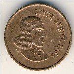 South Africa, 1 cent, 1965–1969
